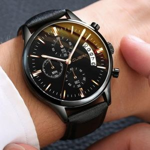 Other - ⌚️NEW⌚️ Luxury Mens Calendar Leather Quartz Watch